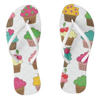 Cupcake Flip Flops