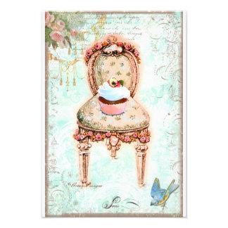 Cupcake French Victorian Invitation