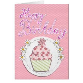 Cupcake Girl Card
