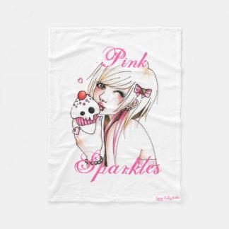 Cupcake Girl Fleece Blanket