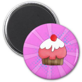CupCake Girl 2 Inch Round Magnet