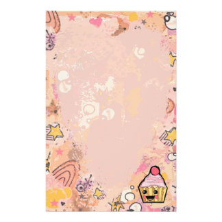 Cupcake Graffiti and heart pink - Stationery