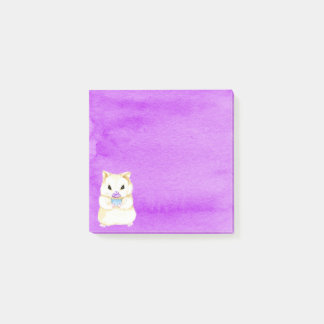Cupcake Hamster Post-It Notes