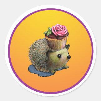 Cupcake Hedgehogs Stickers