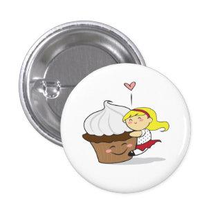 Cupcake Hugger Cutie Button
