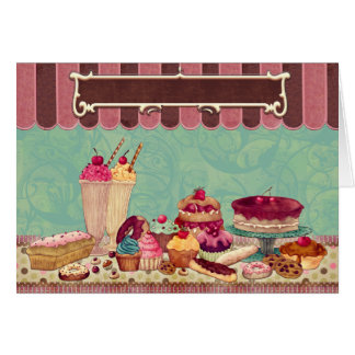 Cupcake & Ice Cream Patisserie Card