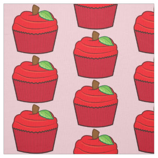 Cupcake in Red Fabric