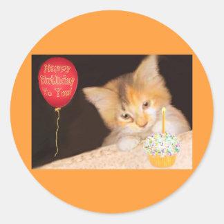 Cupcake Kitten Classic Round Sticker