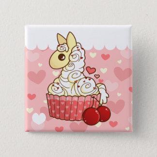 Cupcake Llama Button