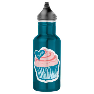 Cupcake Love custom name water bottles