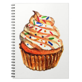 Cupcake Love Frosting Sprinkles Bakery Spiral Notebook