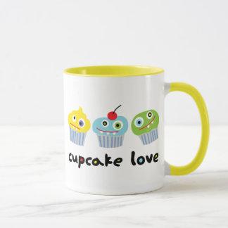 Cupcake Love Mug with crazy cupcake characters