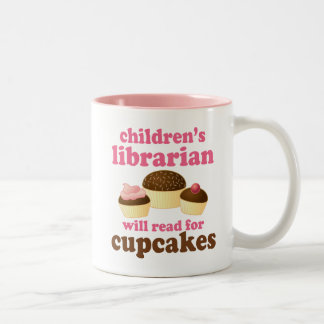 Cupcake Lover Childrens Librarian Gift Two-Tone Mug