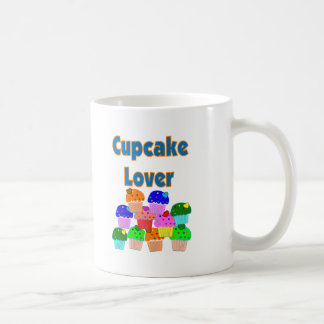 """Cupcake Lover""---Mound of Bright colored cupcakes Classic White Coffee Mug"