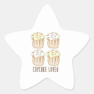 Cupcake Lover Star Sticker