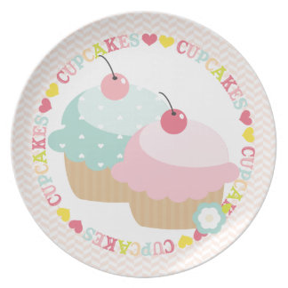 Cupcake Mania Party Plates