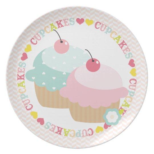 Cupcake Mania Plate