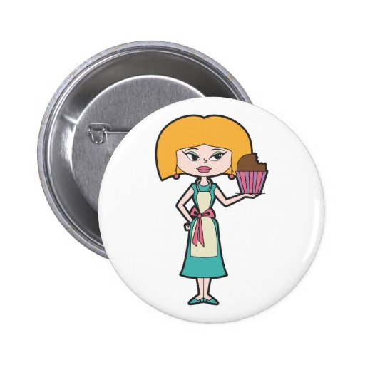 Cupcake Mom Pinback Buttons