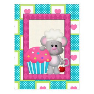 Cupcake Mouse Postcard