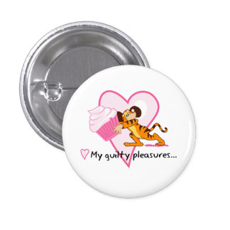Cupcake Mouse (tiger suit) 1 Inch Round Button