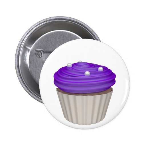 Cupcake of bilberries button
