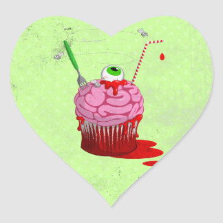 Cupcake Of The Dead Heart Sticker