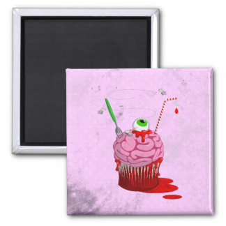 Cupcake Of The Dead Square Magnet