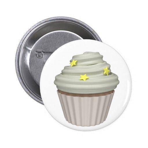 Cupcake of vanilla buttons