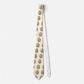 Cupcake on cream tie