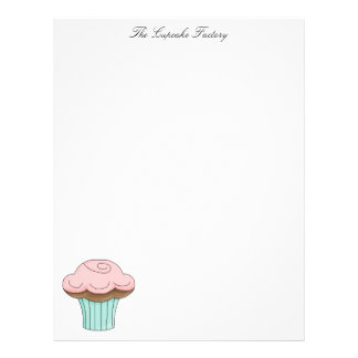 Cupcake Page 8.5 x 11 Personalized Flyer