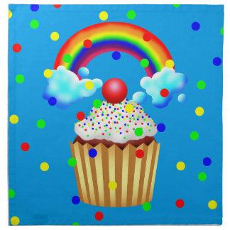 Cupcake Party with Rainbow & Sprinkles Napkin