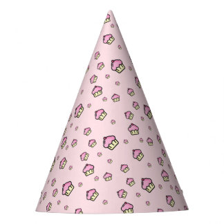 CUPCAKE PATTERN Party Hat