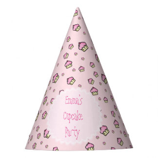 CUPCAKE PATTERN Personalized Party Hat