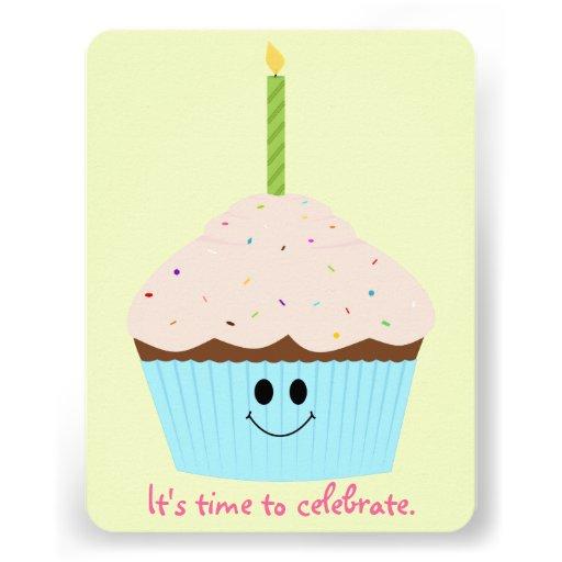 cupcake photo template party invitation zazzle