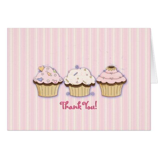 Cupcake Photo Thank You Card