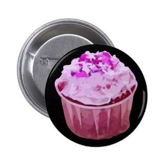 Cupcake Pink Pinback Buttons