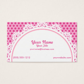 Cupcake Pink Polka Dots Business Card