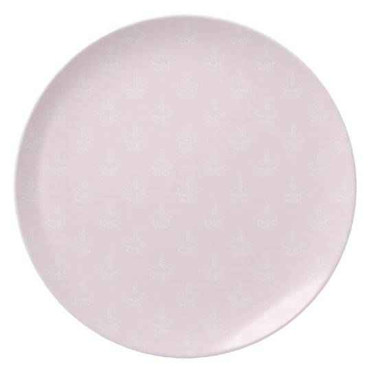 Cupcake Plate- Pink Plate