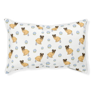 Cupcake Pooping Pug Dog Bed