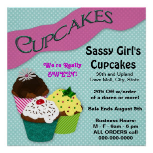 cupcake flyers office school products zazzle ca