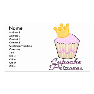 cupcake princess business card