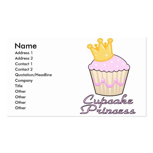 cupcake princess business card template