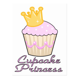 cupcake princess postcard