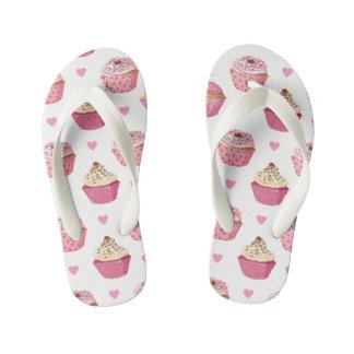 Cupcake print Child Flipflops