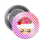 Cupcake Rainbow Button