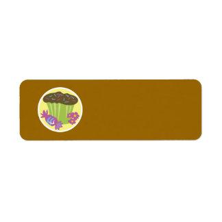 Cupcake Return Address Label
