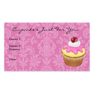 Cupcake s Chic Damask Design Business Card