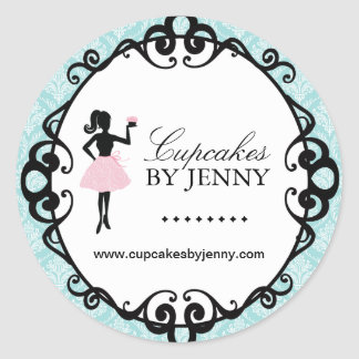 Cupcake Silhouette Packaging Stickers