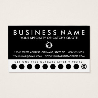 cupcake splatz black punch card