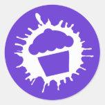 cupcake splatz round sticker